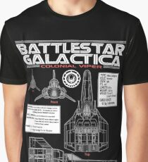 BATTLESTAR GALACTICA COLONIAL VIPER Graphic T-Shirt
