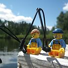 Fishing Off the Dock by Shauna  Kosoris