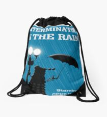 MusiKill in the Rain Drawstring Bag