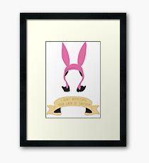Louise of Sarcasm Framed Print