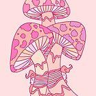 Pink Mushrooms by ogfx