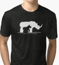 Speichere das Nashorn Vintage T-Shirt
