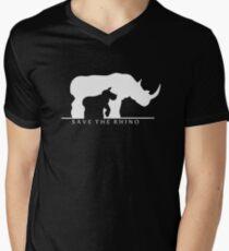 Speichere das Nashorn T-Shirt mit V-Ausschnitt für Männer