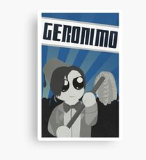 Geronimo! Propaganda Canvas Print