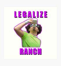 Legalize Ranch Version 1 Art Print
