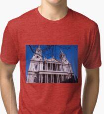 London St Pauls Cathedral Tri-blend T-Shirt