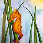 Seahorse in the Turtle Grass by Frances Tyler