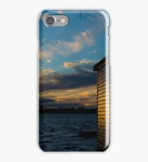 boat shed on a lake  iPhone Case/Skin