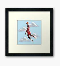 Jordan Polygon Art Framed Print