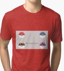 Pokemon Balls Tri-blend T-Shirt