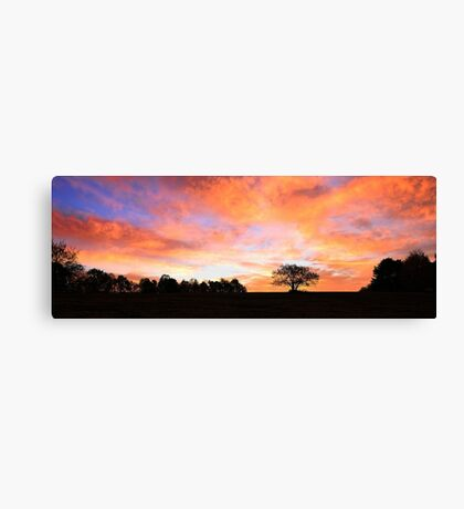 Daybreak - A Sky on Fire Canvas Print