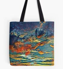 August Painted Sunset Tote Bag