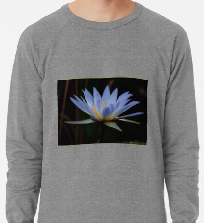 IN BLUE - THE WATERLILY - – Nymphaea nouchall Lightweight Sweatshirt