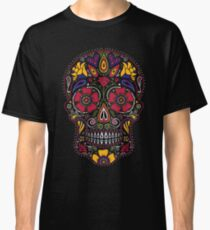 Day of the Dead Sugar Skull Dark Classic T-Shirt