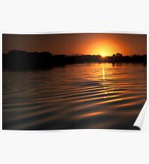 Sunset over Hastings River Poster