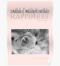Happiness Pink © Vicki Ferrari Photography Poster