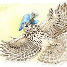Strange Barred Owl by Goldeen Ogawa