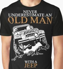 Never Underestimate An Old Man Jeep T-shirts Graphic T-Shirt