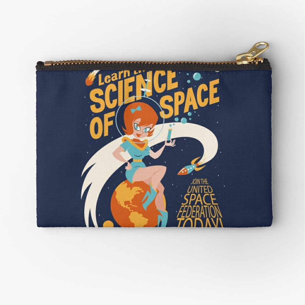 United Space Federation Zipper Pouch