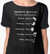 Problem Solving with Player Characters Chiffon Top