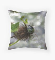 Green Stink Bug Throw Pillow