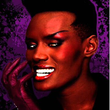 Grace Jones Splatter Purple by tenchimuyo4ever