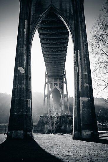 Under St. John's Bridge by comeinalone