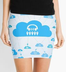 Music a cloud Mini Skirt