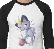 Alola Meowth Men's Baseball ¾ T-Shirt