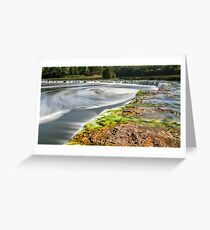 Widest waterfall in Latvia Greeting Card