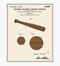 Baseball Bat Patent - Colour Photographic Print