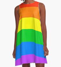 Simple Gay Pride Flag A-Line Dress