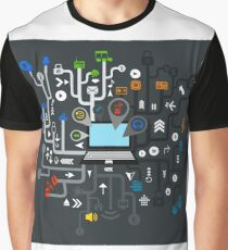 Music the computer Graphic T-Shirt