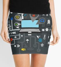 Music the computer Mini Skirt