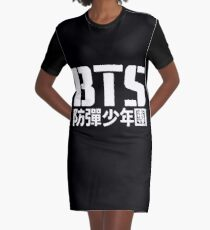 BTS Bangtan Boys Logo/Text 2 Graphic T-Shirt Dress
