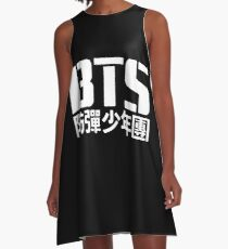 BTS Bangtan Boys Logo/Text 2 A-Line Dress