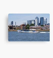 Thames Clippers at Thames Greenwich London Canvas Print