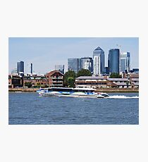 Thames Clippers at Thames Greenwich London Photographic Print
