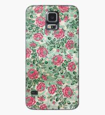 Retro Französisches Blumenmuster Hülle & Klebefolie für Samsung Galaxy