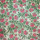 Retro French Floral Pattern by Paula Belle Flores