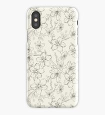 Cherry blossom seamless pattern iPhone Case/Skin