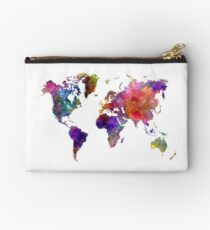 World map in watercolor  Studio Pouch
