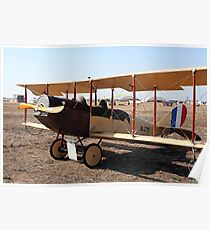 Curtiss Jenny Biplane Aircraft Poster