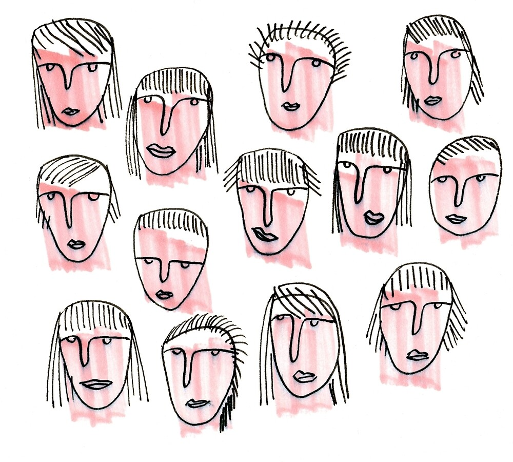 Pink Faces by Tara Lea