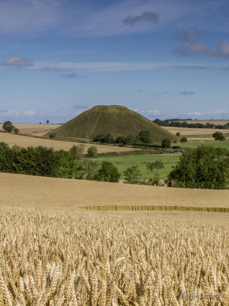 Silbury Hill and crop circle by AngelaBarnett