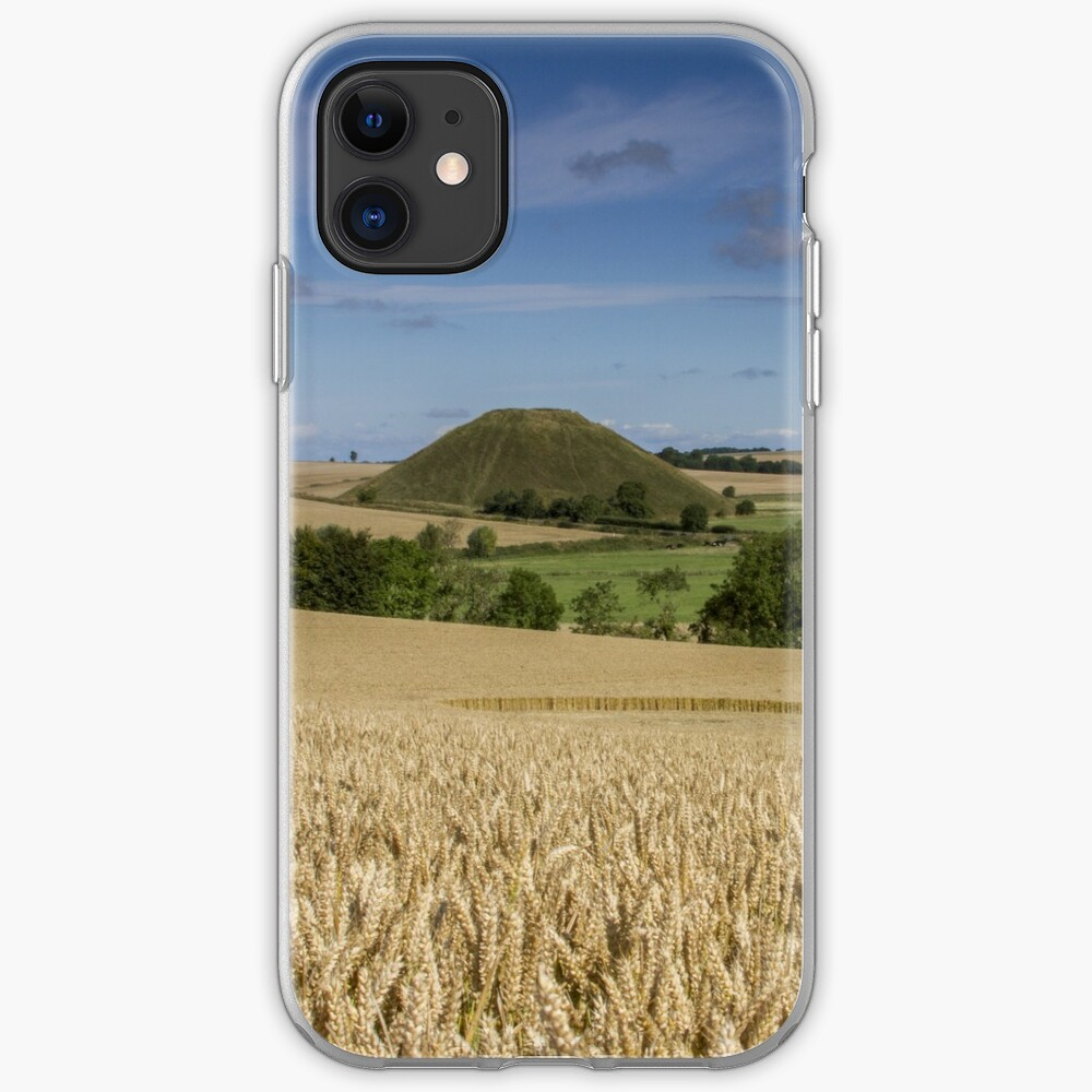 Silbury Hill and crop circle iPhone Case & Cover