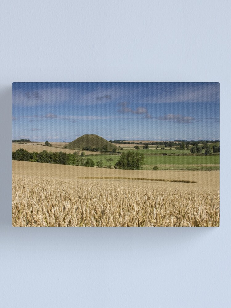 Alternate view of Silbury Hill and crop circle Canvas Print