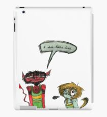 Baby the Runtling and Dean the Devil iPad Case/Skin
