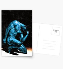 Turquoise Thinker (Original Sold - available in Limited Edition 1 of 25) Postcards