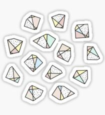 Polygonal stones and gemstones Sticker